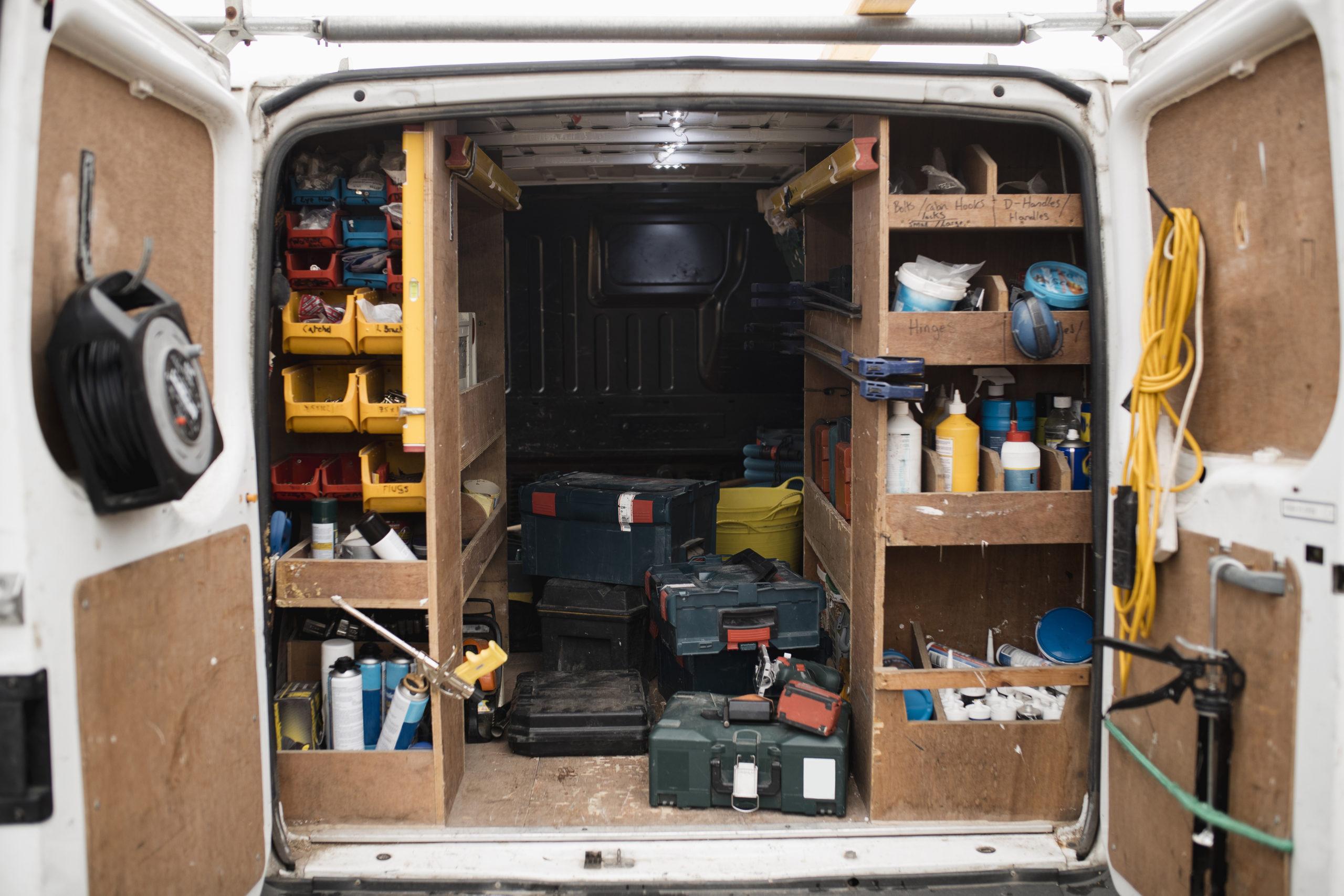 tools in a medium van lease
